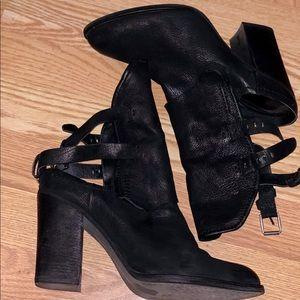 Black mule booties
